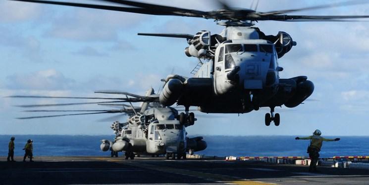 سقوط بالگرد نیروی دریایی آمریکا/ خلبان و کمک خلبان کشته شدند