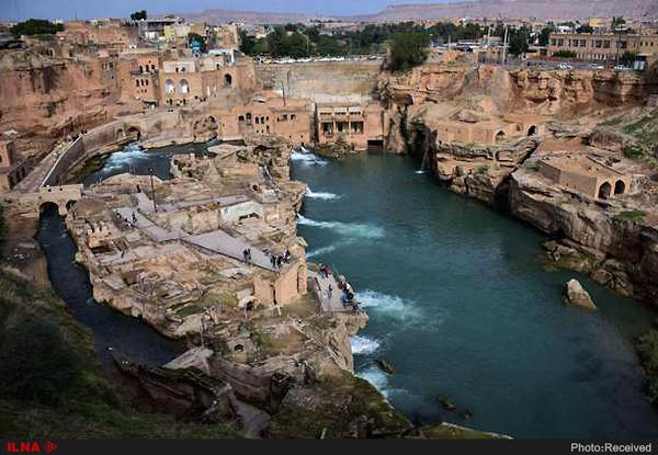 تعطیلی محوطه تاریخی آسیابهای شوشتردر پی سیل اخیر خوزستان - 1