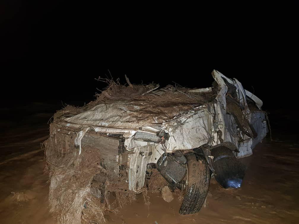 سرنشینان خودروی سواری در سیل جنوب سمنان مفقود شدند