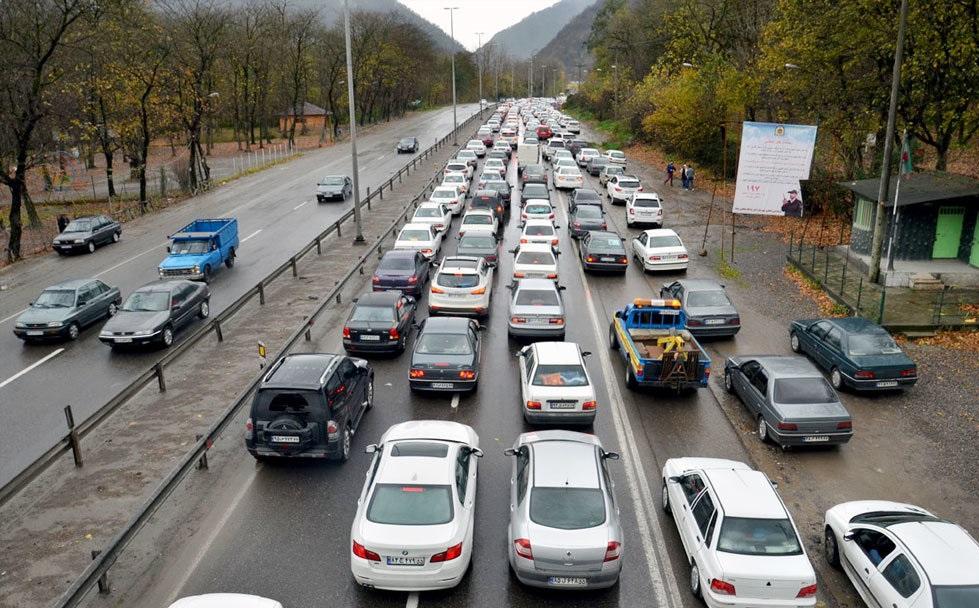 باران و ترافیک مسافران مازندران را زمین گیر کرد
