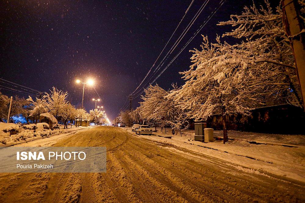 بارش سنگین برف در همدان - 16