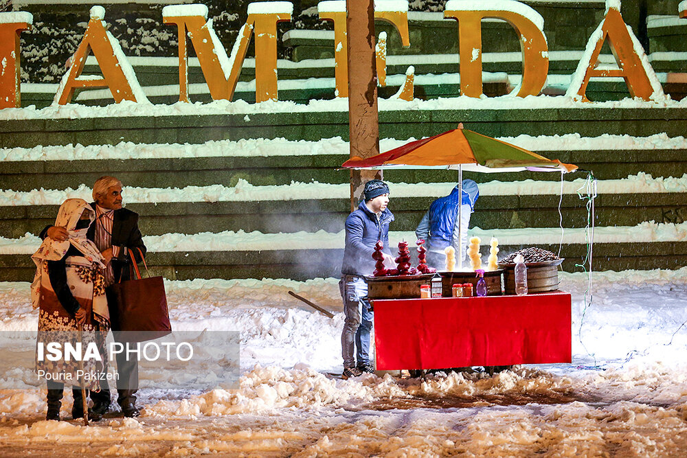 بارش سنگین برف در همدان - 20