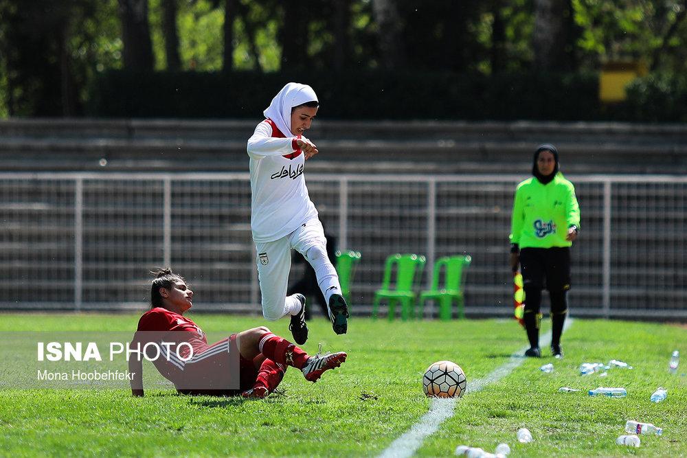 دیدار دوستانه  فوتبال جوانان دختر ایران و اردن (تصاویر) - 18