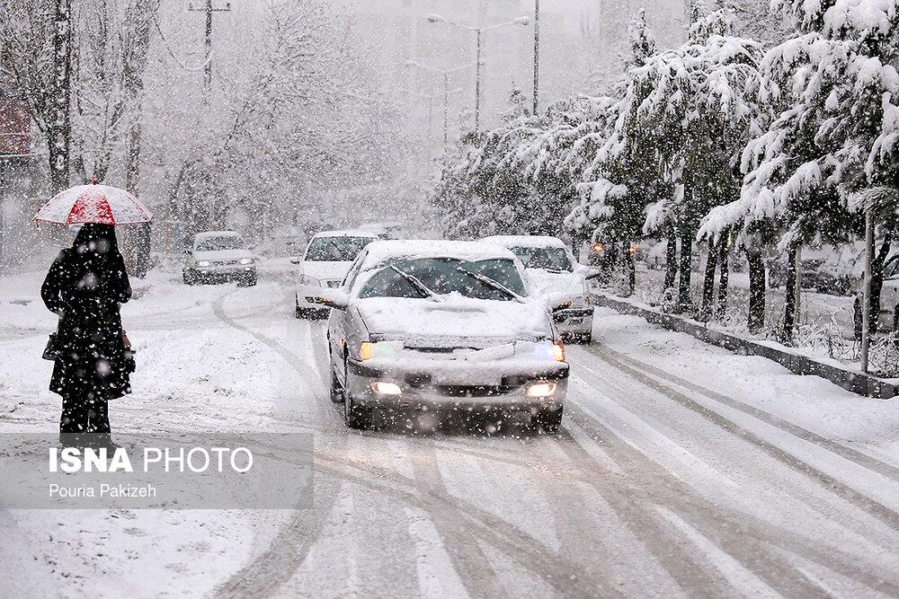 بارش سنگین برف در همدان - 4