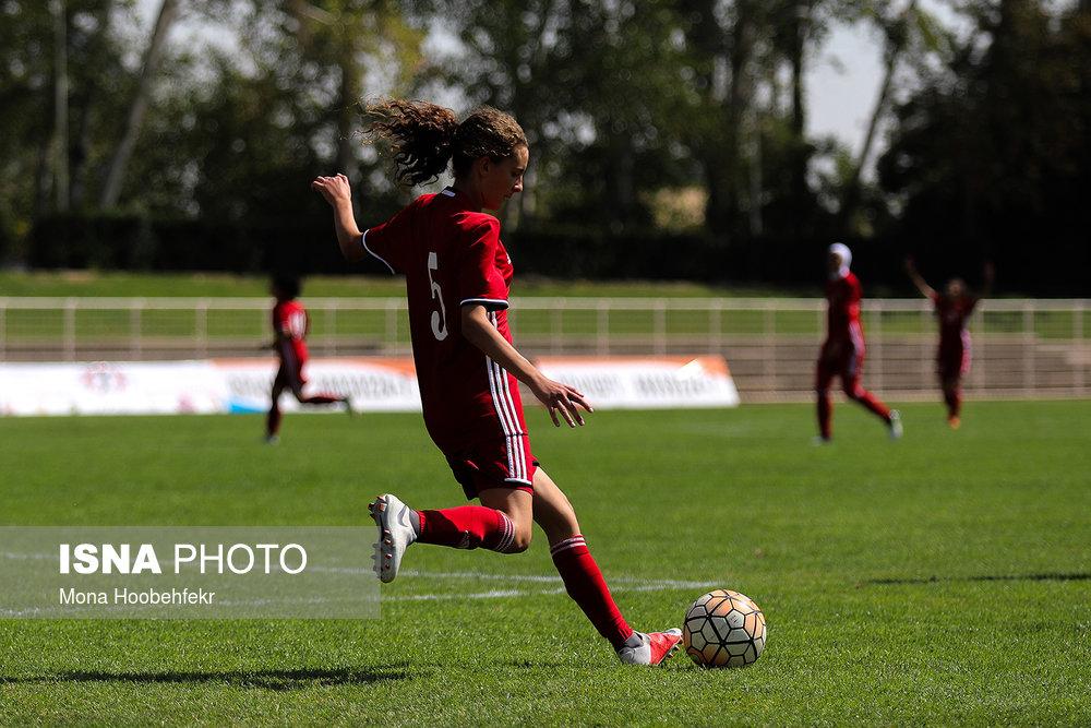 دیدار دوستانه  فوتبال جوانان دختر ایران و اردن (تصاویر) - 19