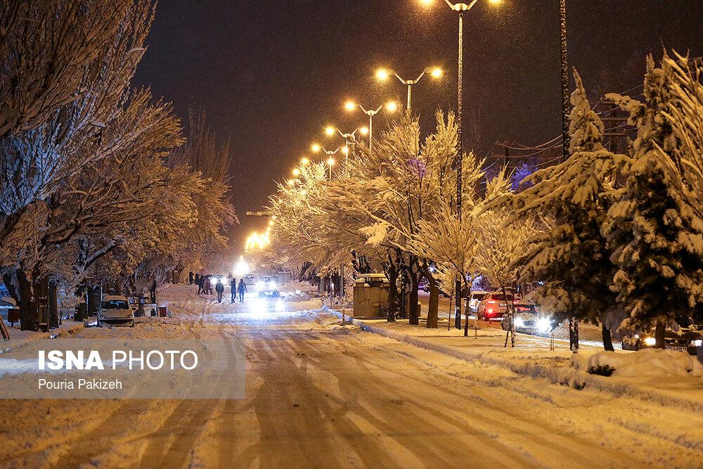 بارش سنگین برف در همدان - 18