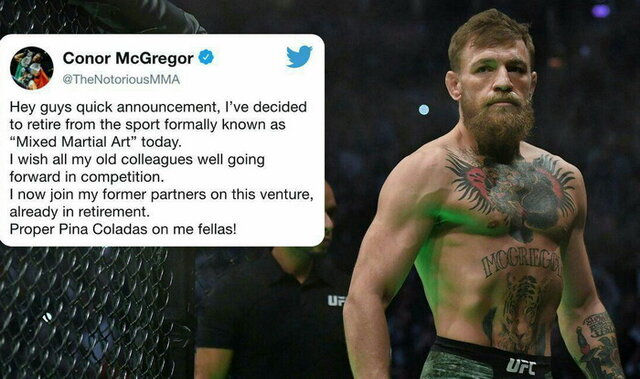 مکگریگور از MMA خداحافظی کرد