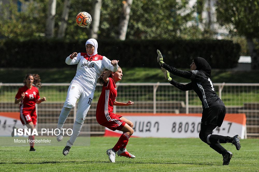دیدار دوستانه  فوتبال جوانان دختر ایران و اردن (تصاویر) - 30