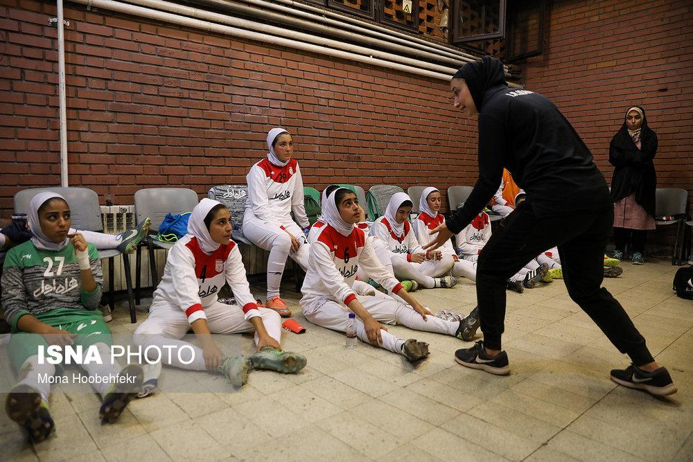 دیدار دوستانه  فوتبال جوانان دختر ایران و اردن (تصاویر) - 16