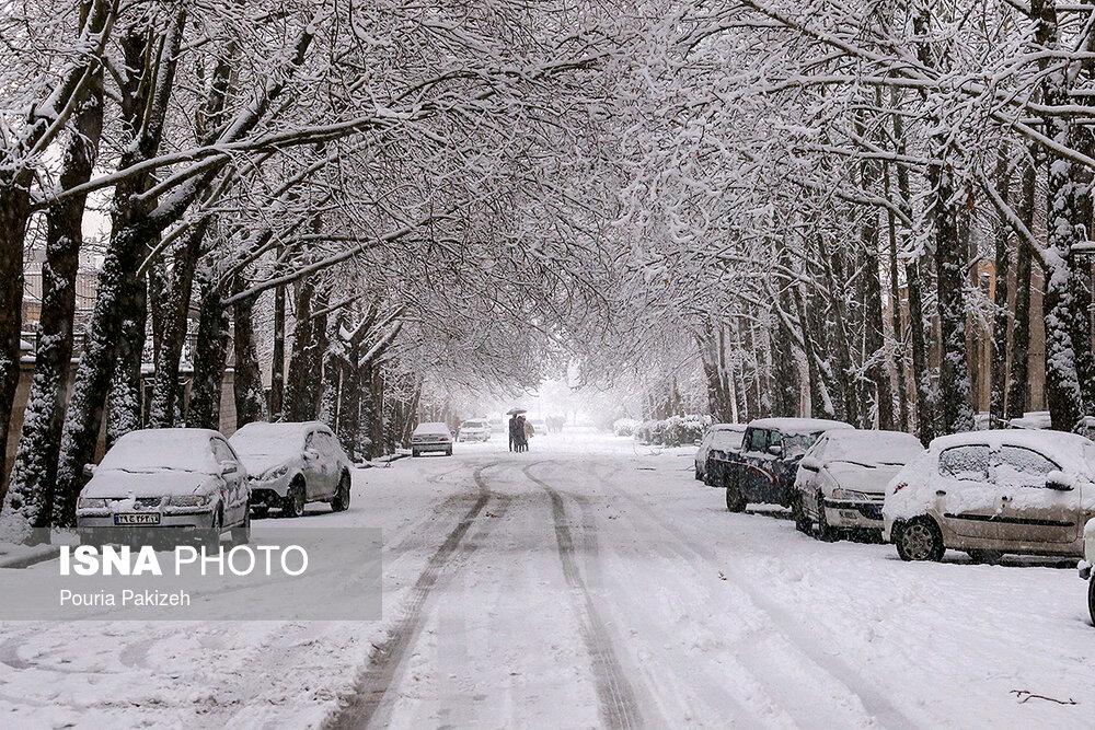 بارش سنگین برف در همدان - 13