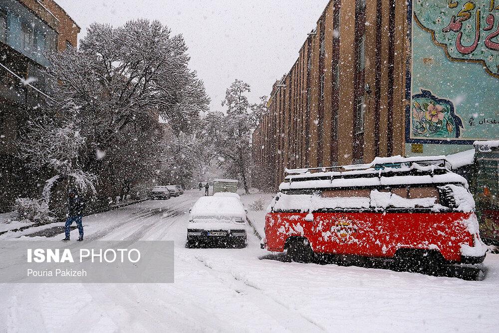 بارش سنگین برف در همدان - 7