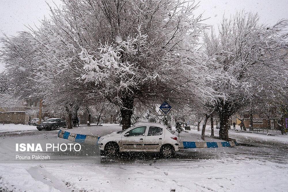 بارش سنگین برف در همدان - 10
