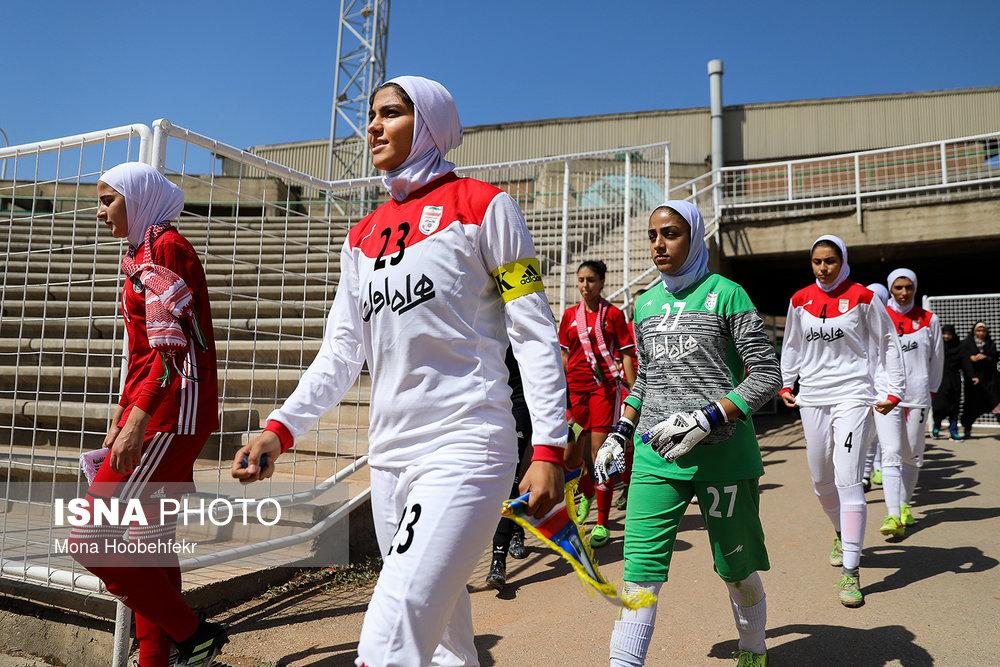 دیدار دوستانه  فوتبال جوانان دختر ایران و اردن (تصاویر) - 2
