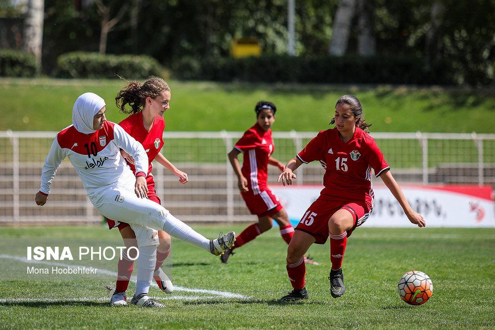 دیدار دوستانه  فوتبال جوانان دختر ایران و اردن (تصاویر) - 13