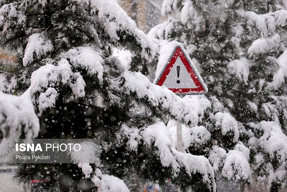بارش سنگین برف در همدان - 9