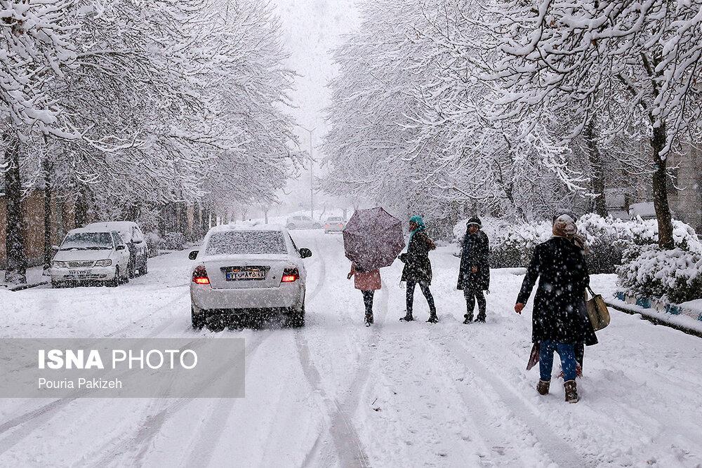 بارش سنگین برف در همدان - 12