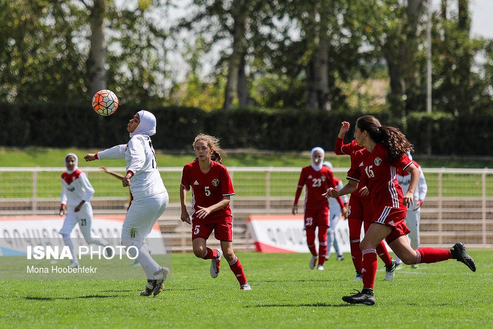 دیدار دوستانه  فوتبال جوانان دختر ایران و اردن (تصاویر) - 20