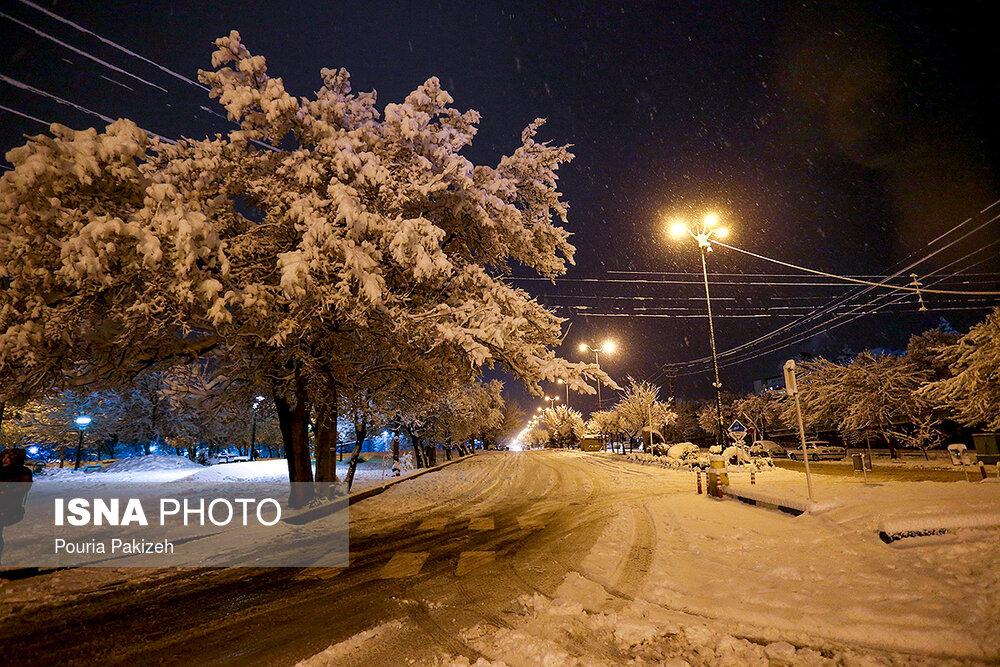 بارش سنگین برف در همدان - 15