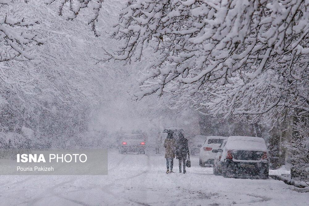 بارش سنگین برف در همدان - 11