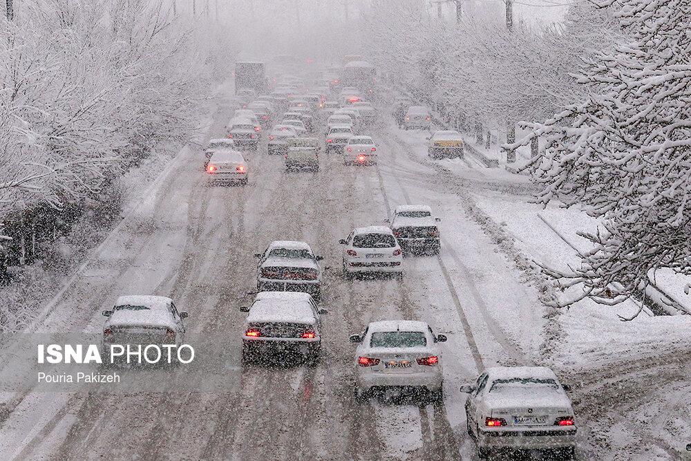 بارش سنگین برف در همدان - 5