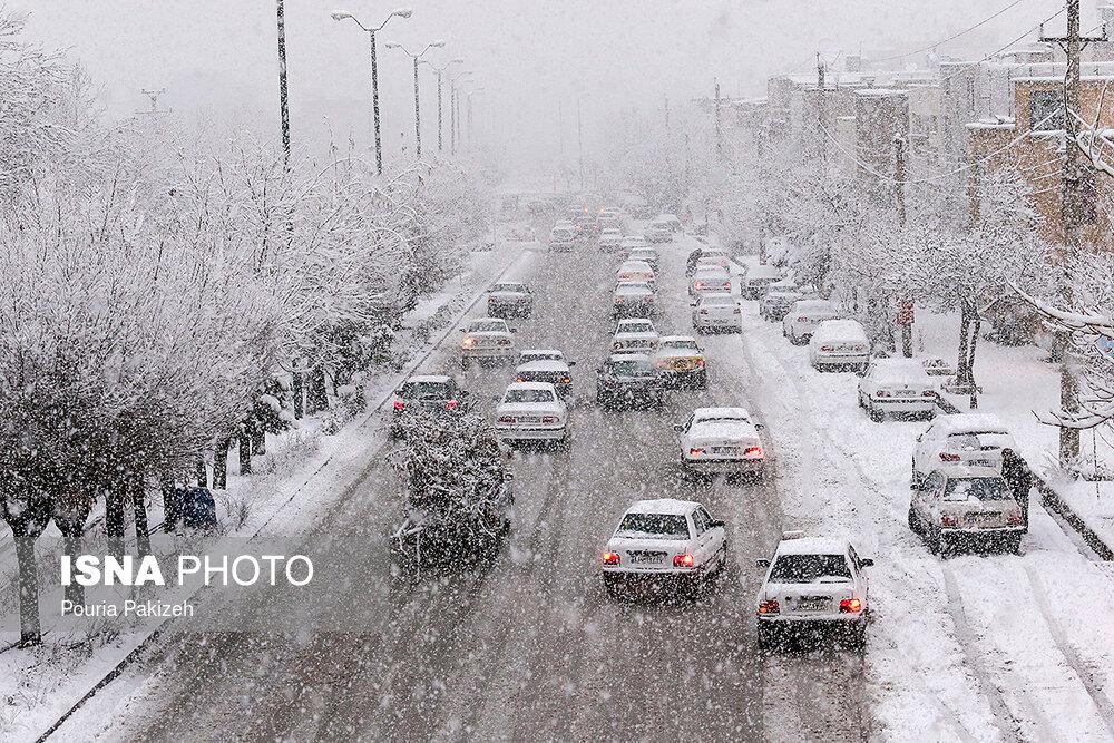 بارش سنگین برف در همدان - 8