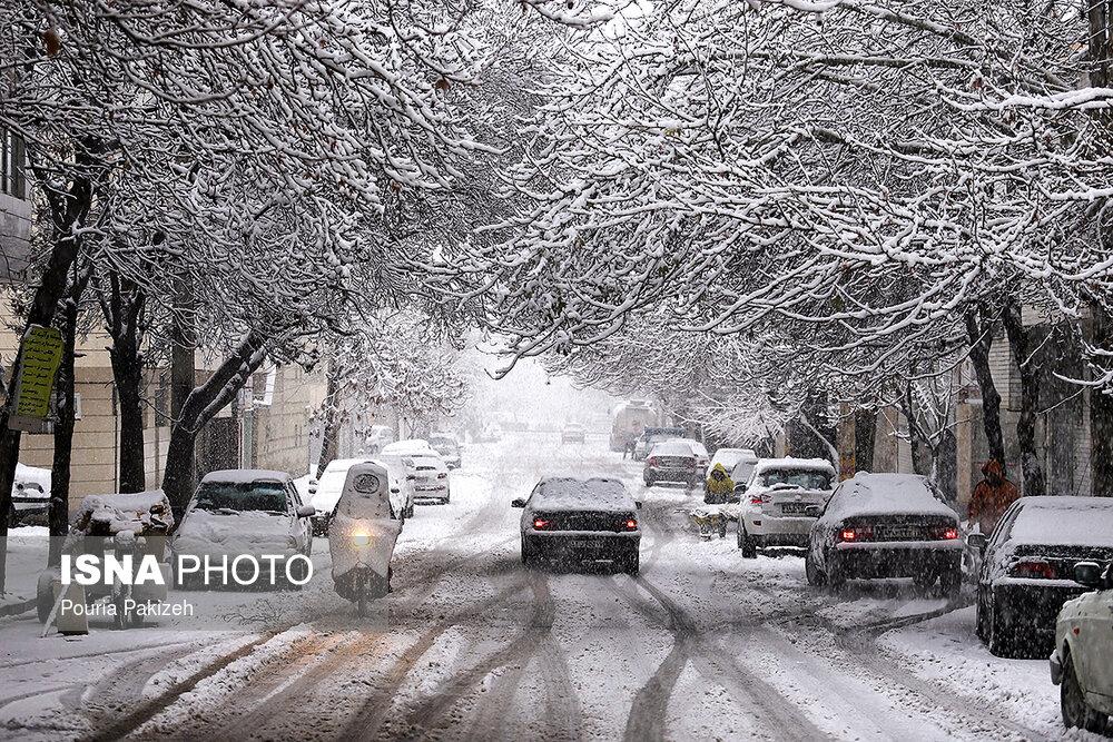 بارش سنگین برف در همدان - 3