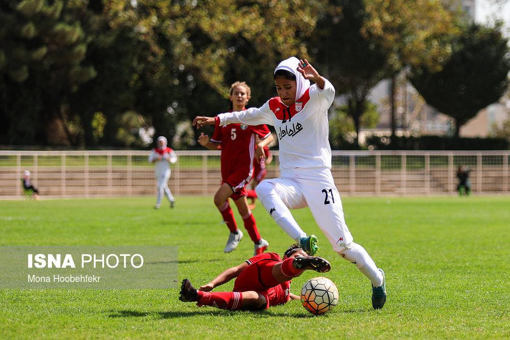 دیدار دوستانه  فوتبال جوانان دختر ایران و اردن (تصاویر) - 25