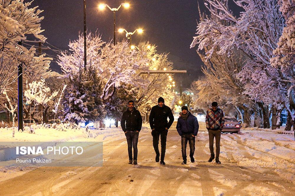 بارش سنگین برف در همدان - 19