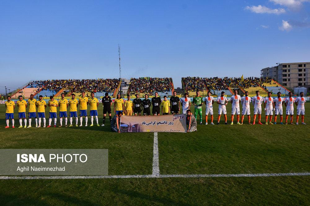 یک چهارم نهایی جام حذفی- دیدار تیمهای فوتبال صنعت نفت آبادان و سایپا - 0