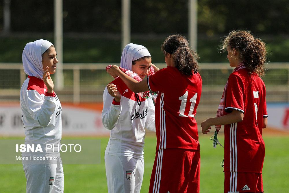 دیدار دوستانه  فوتبال جوانان دختر ایران و اردن (تصاویر) - 6