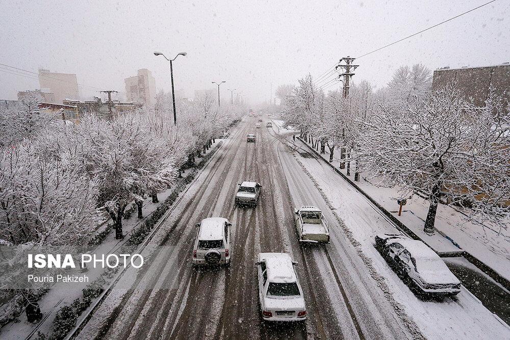 بارش سنگین برف در همدان - 6