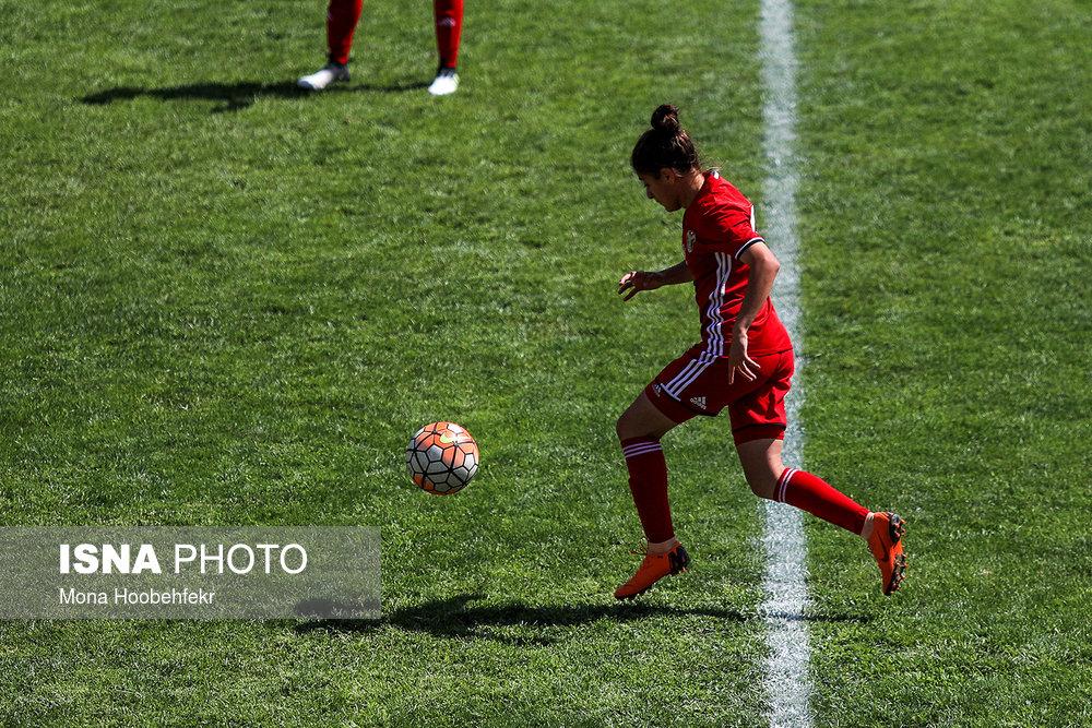 دیدار دوستانه  فوتبال جوانان دختر ایران و اردن (تصاویر) - 29
