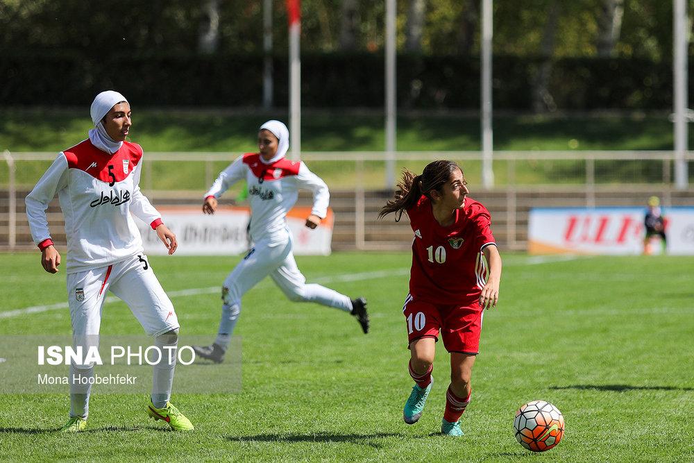 دیدار دوستانه  فوتبال جوانان دختر ایران و اردن (تصاویر) - 8