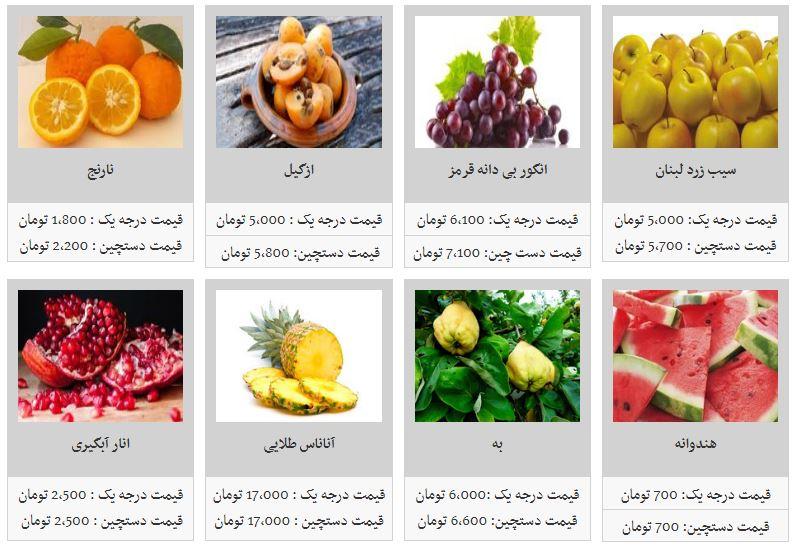 قیمت انواع میوه در غرفه تره بار - 5