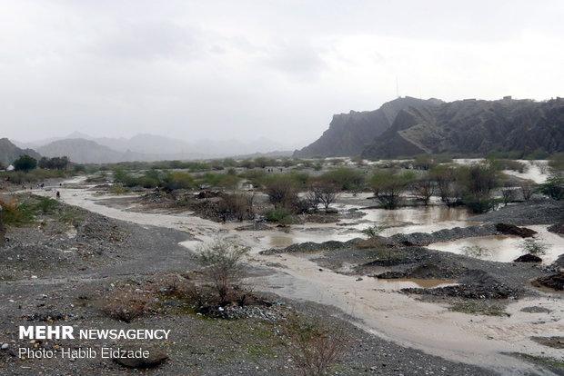 پایان خشکسالی و آغاز سیلاب در جنوب کرمان/ یک نفر جان باخت