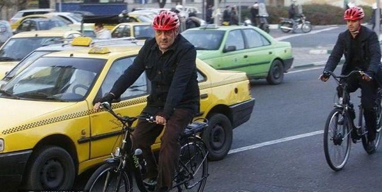 دوچرخه سواری آقای شهردار حاشیه ساز شد/کنایه اینستاگرامی کرباسچی به حناچی - 3
