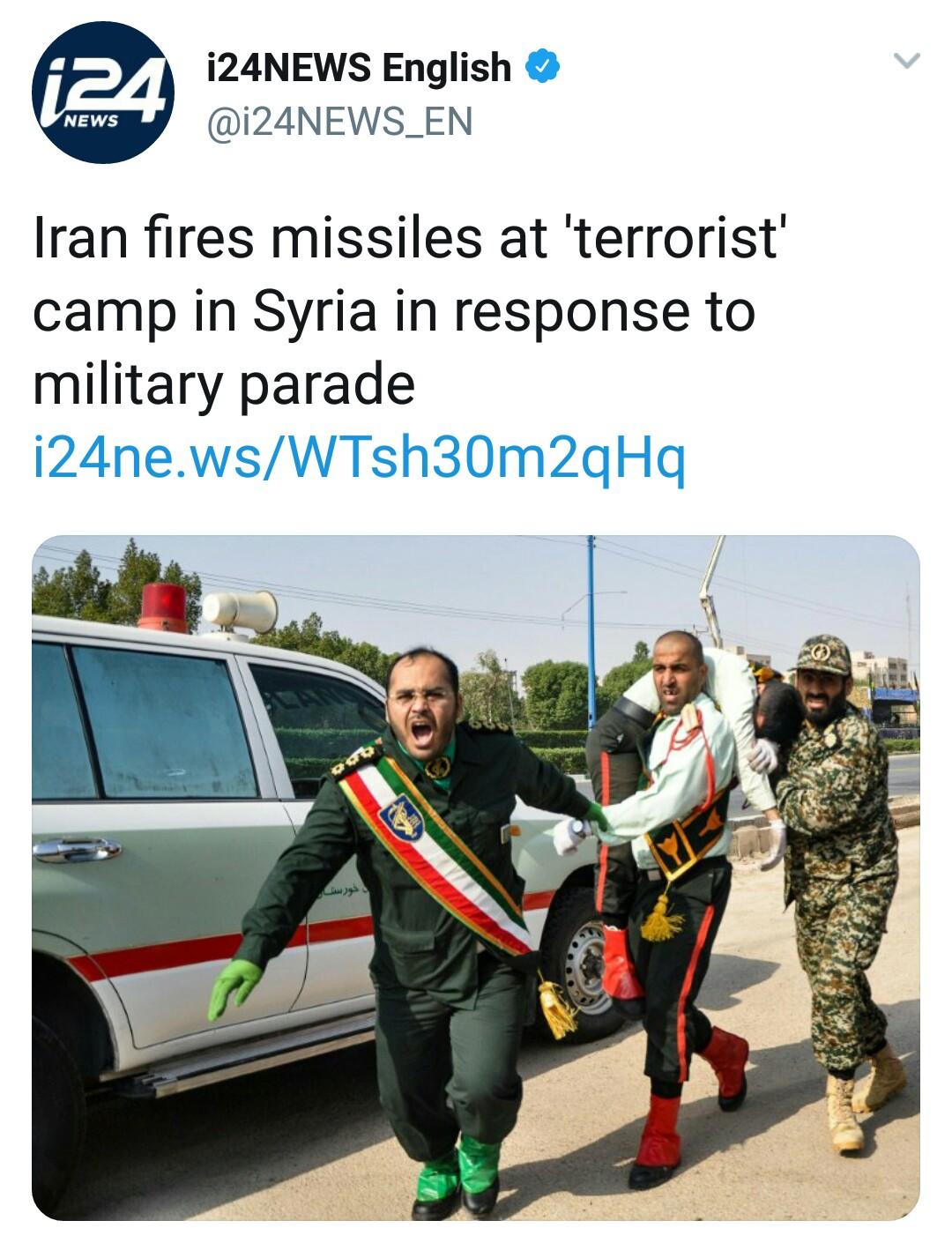 بازتاب حمله موشکی سپاه به مواضع طراحان حمله تروریستی اهواز در رسانههای خارجی - 27