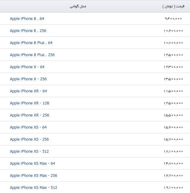 جدیدترین قیمت گوشی اپل در بازار - 2
