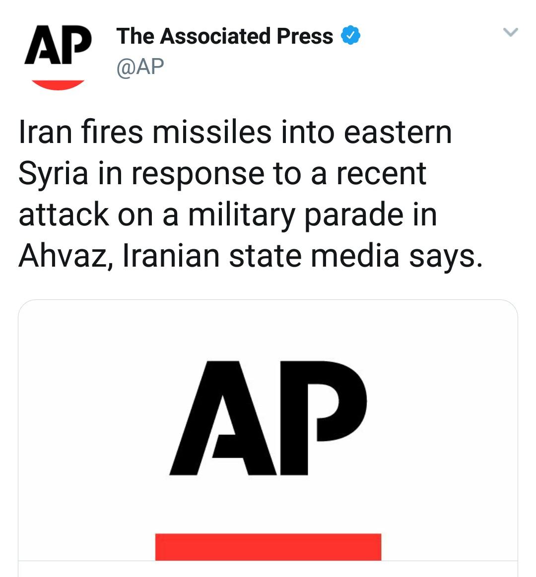 بازتاب حمله موشکی سپاه به مواضع طراحان حمله تروریستی اهواز در رسانههای خارجی - 33