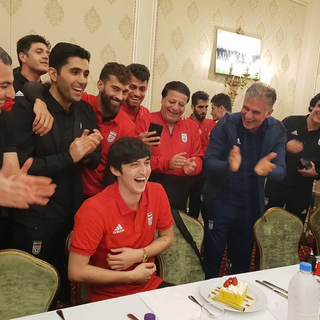 جشن تولد آزمون در اردوی تیم ملی - 6