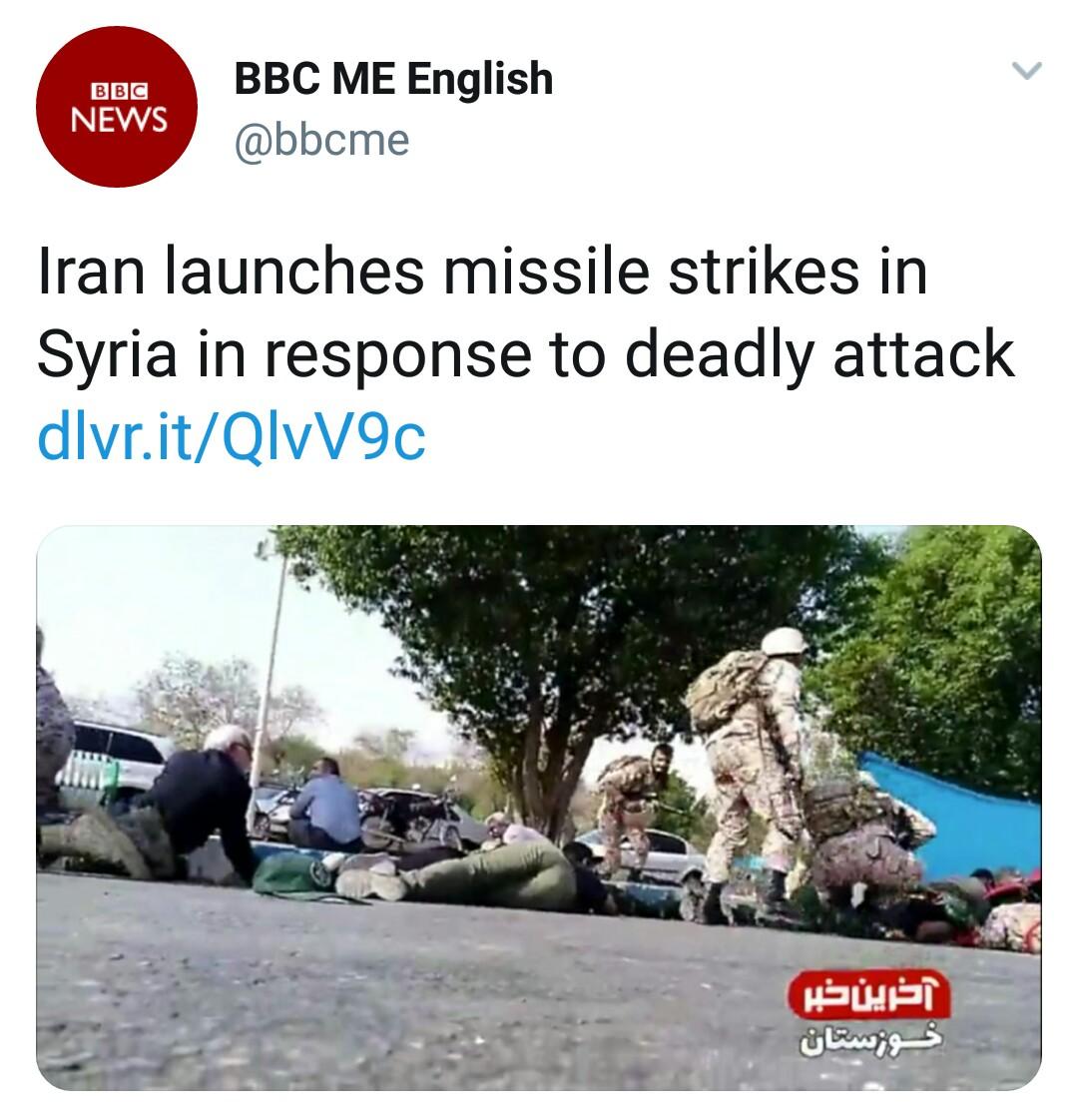 بازتاب حمله موشکی سپاه به مواضع طراحان حمله تروریستی اهواز در رسانههای خارجی - 29
