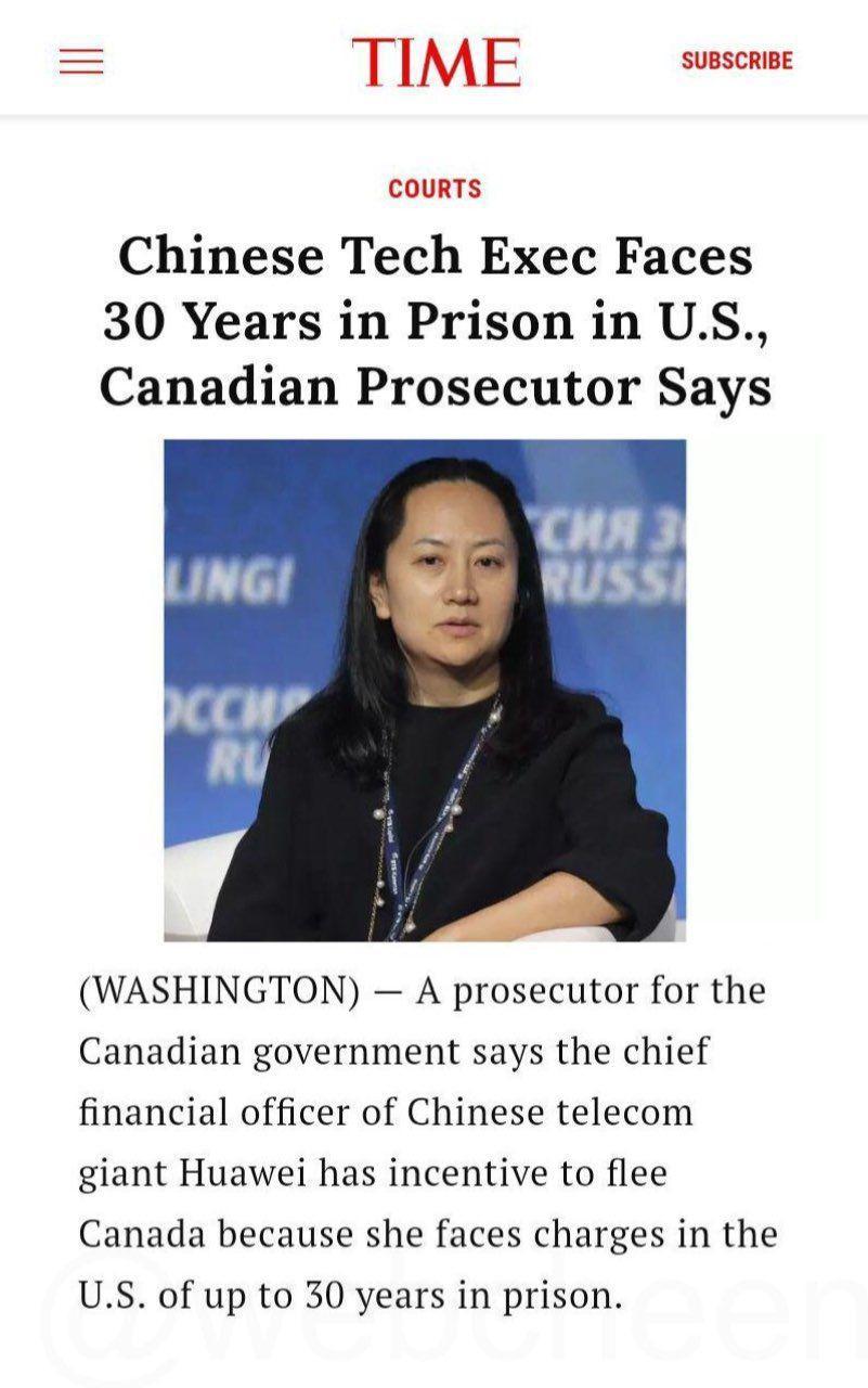 ۳۰ سال زندان؛ مجازات احتمالی مدیر ارشد هواوی / ترامپ از بازداشت خانم منگ خبر نداشت - 10