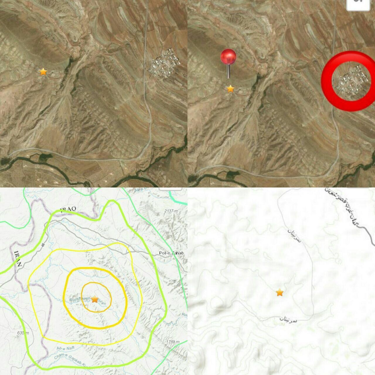 کانون زلزله امشب کرمانشاه به روایت مرکز زلزلهنگاری+تصویر - 1
