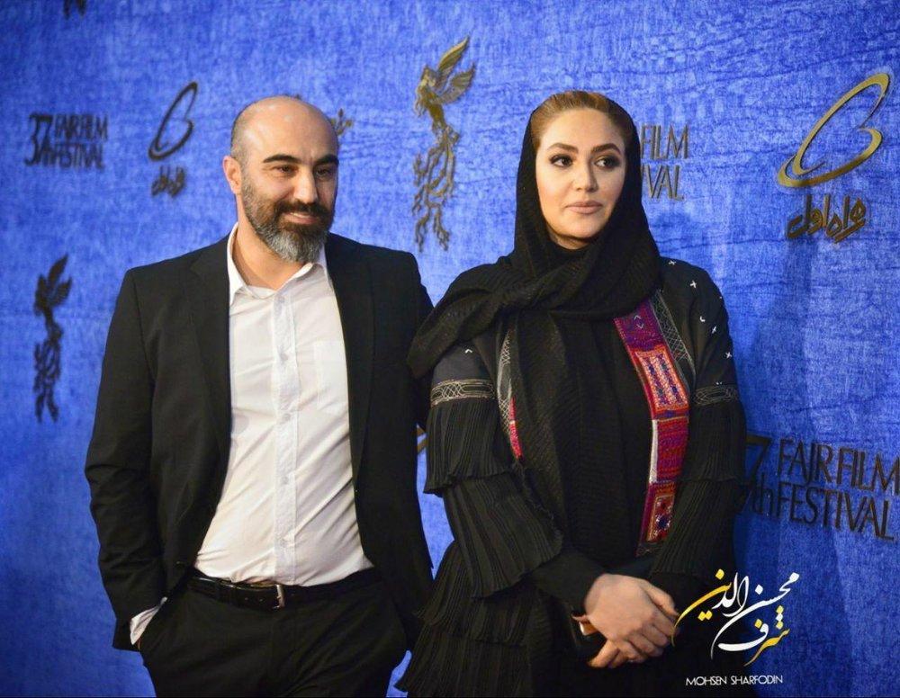عکس | محسن تنابنده و همسرش روی فرش قرمز جشنواره - 2