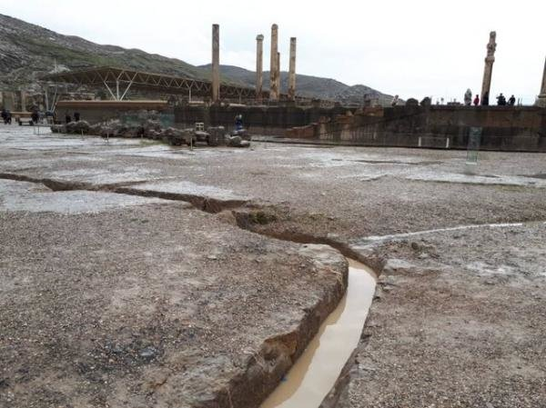 تصاویر «تخت جمشید» بعد از فروکش کردن سیلاب! - 9