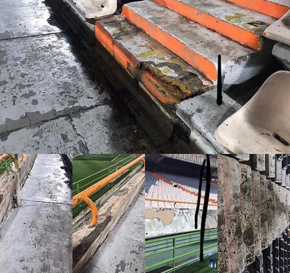 بلایی که باران سر ورزشگاه آزادی نونوار شده آورد!/عکس - 2