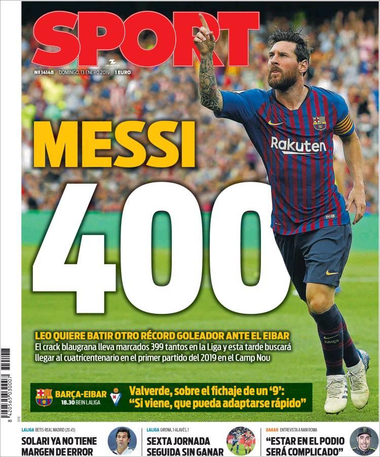 روزنامه اسپورت| مسی ۴۰۰ - 1