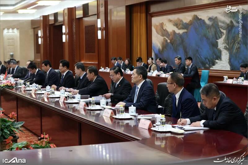 عکس/ دیدار لاریجانی با رئیس کنگره خلق چین - 8