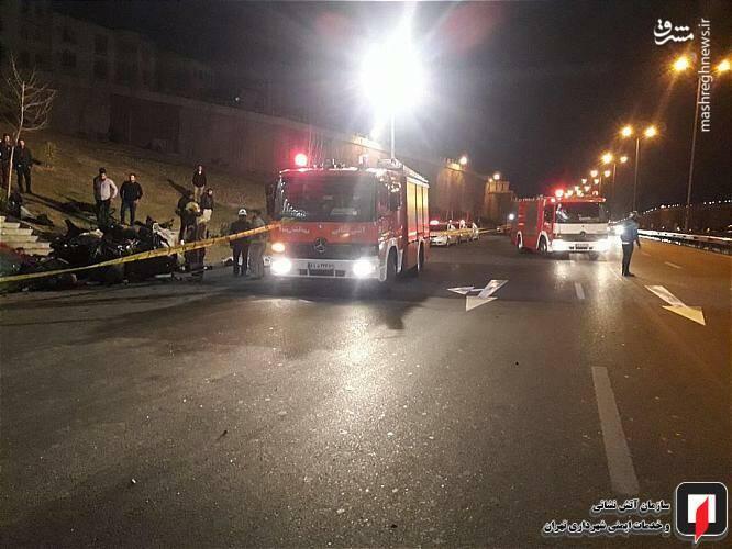 عکس/ تصادف مرگبار پژو ۲۰۷ در تهران - 9