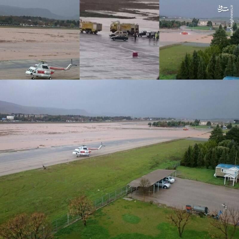 عکس/ فرودگاه خرم آباد در محاصره سیل - 1